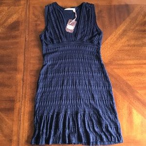 Chelsea & Violet marine lace dress L NWT